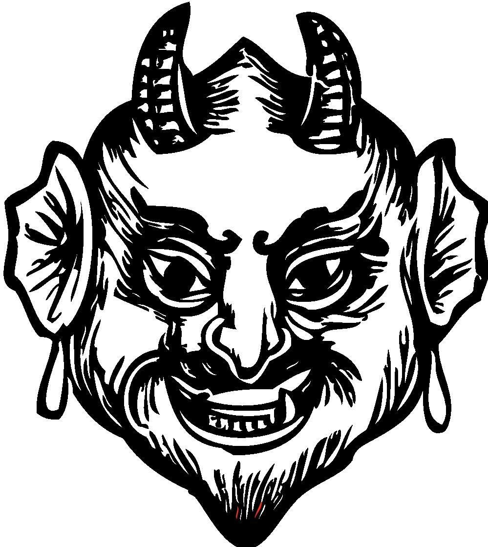 Devil clipart smile. Clipartist net clip art