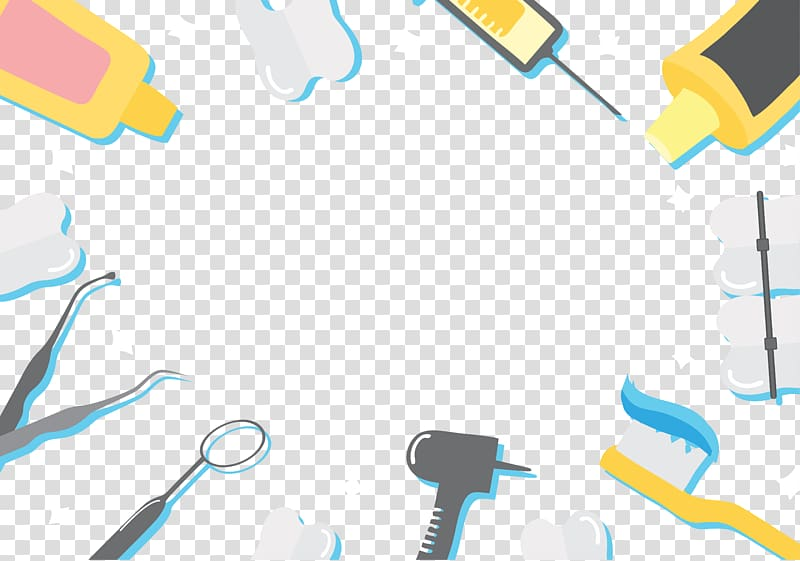 Assorted tool frame dentistry. Dentist clipart background