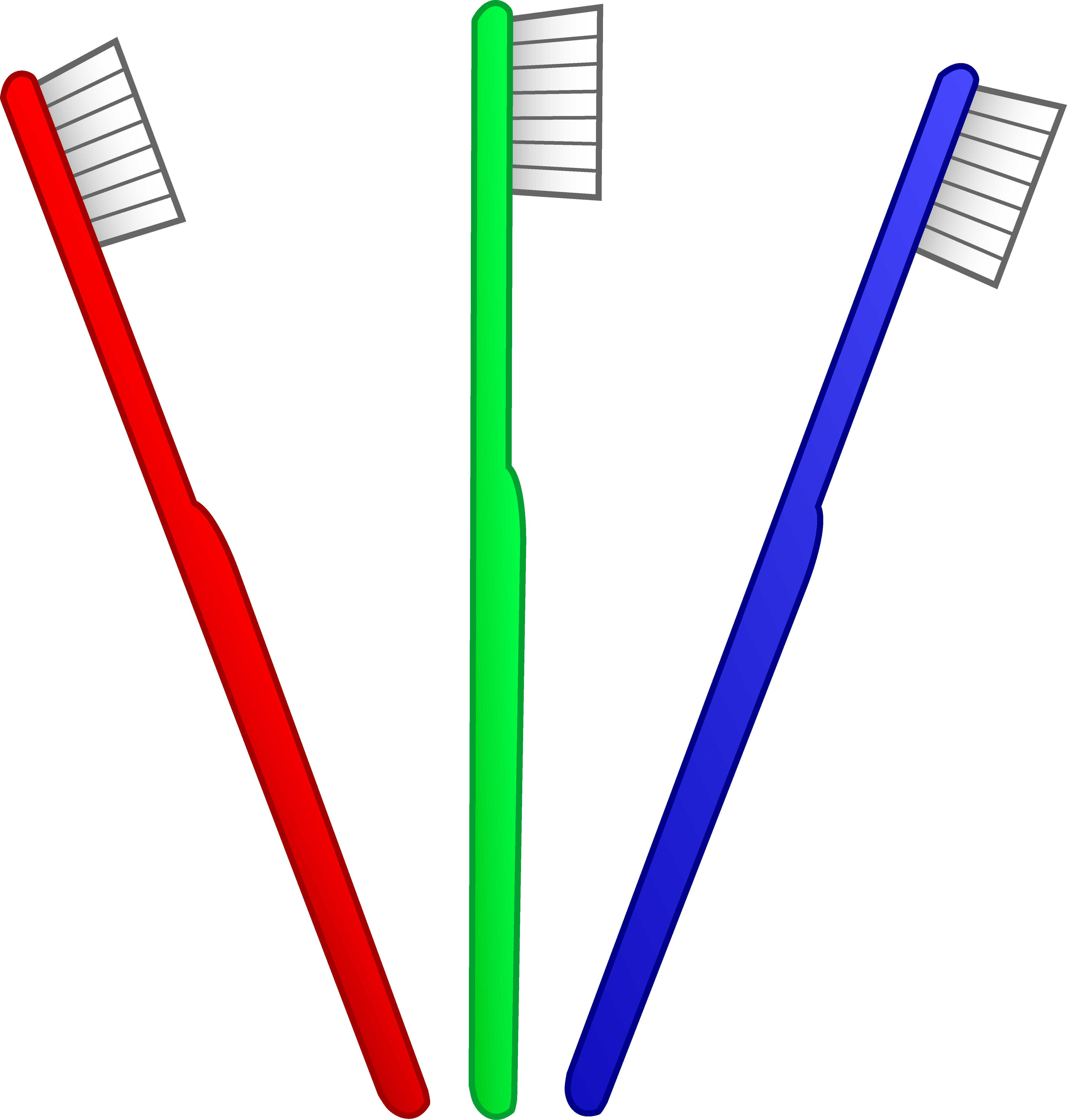 Three toothbrushes free clip. Dentist clipart brushteeth