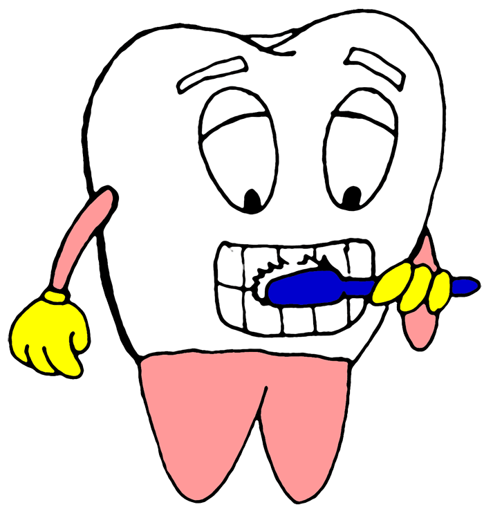 Brushing teeth panda free. Dentist clipart brushteeth