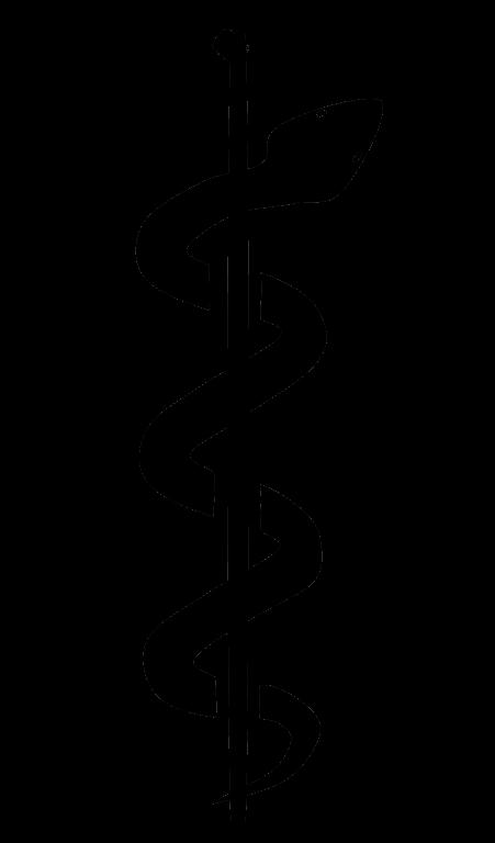 Health clipart hospital symbol. Rod of asclepius caduceus