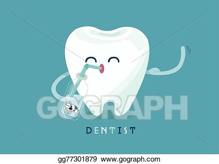 Eps illustration for vector. Tooth clipart calcium