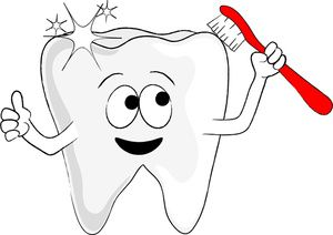 Brush your teeth the. Dentist clipart brushed tooth