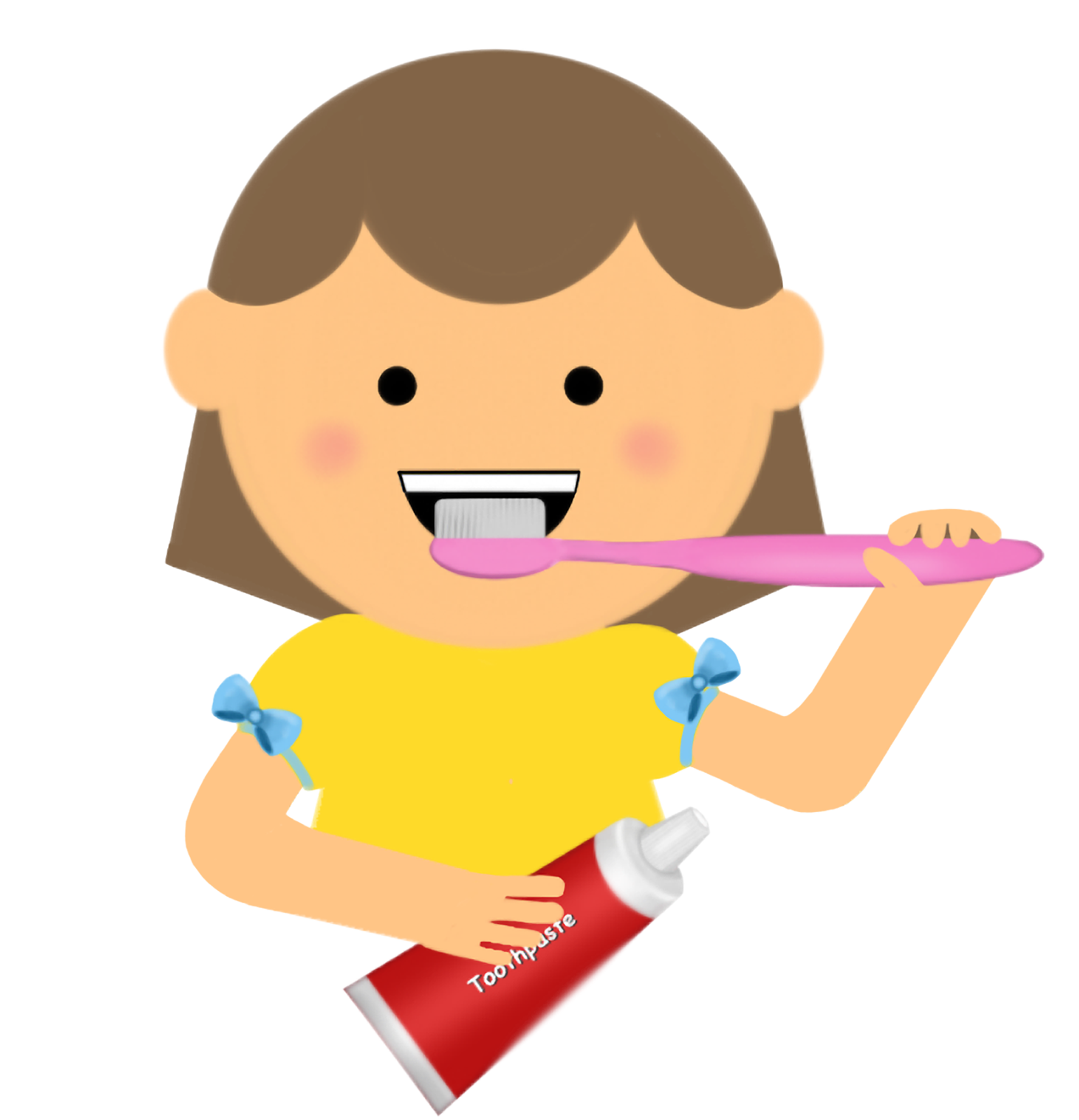 Tooth clipart boy. Brushing teeth letters format