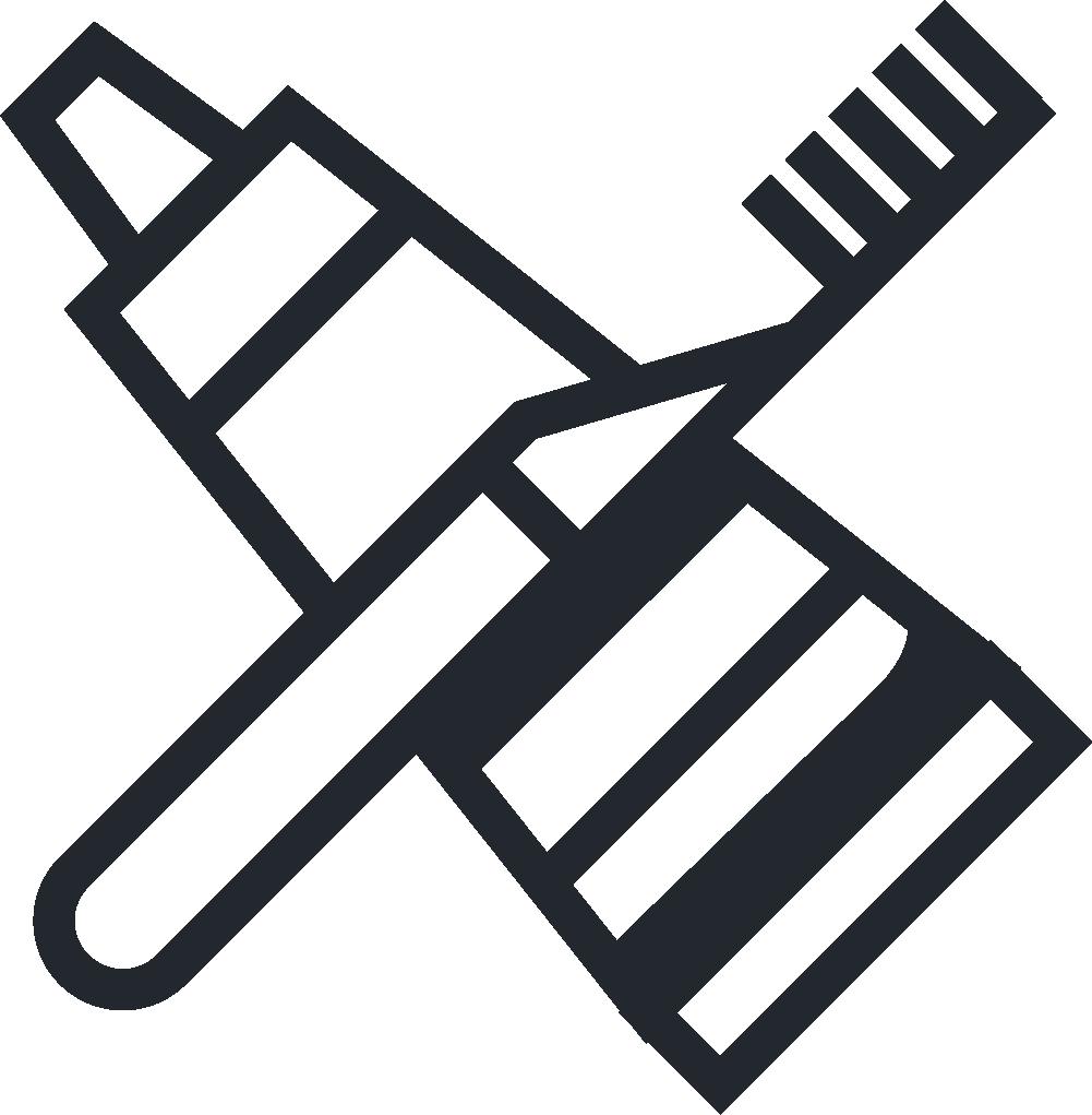 Dentistry dental instruments icon. Dentist clipart toothbrush