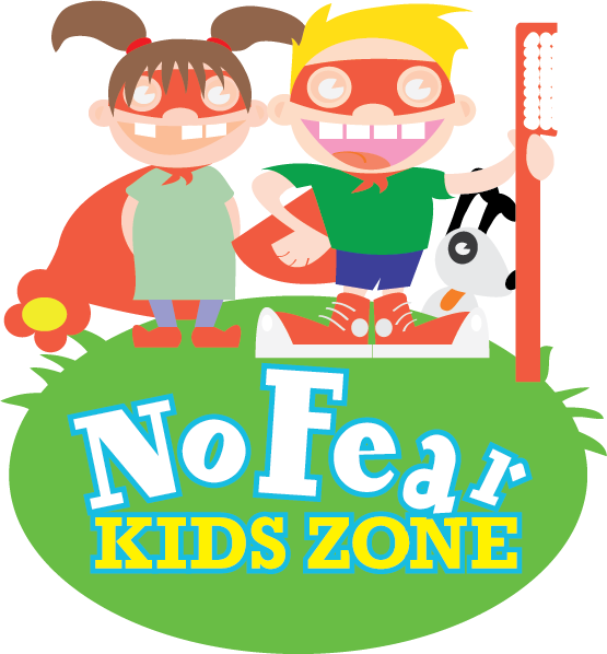 Dentist clipart health product. No fear kids zone