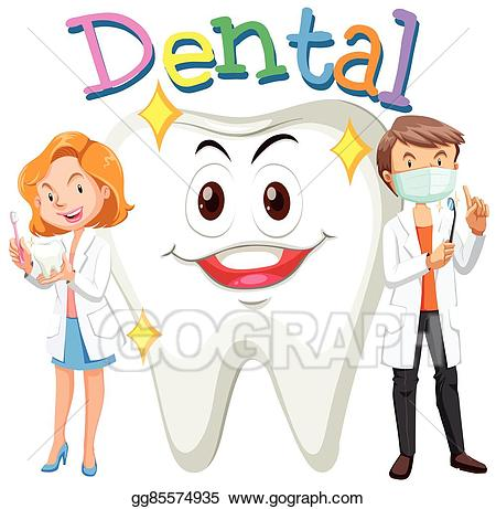 Dental clipart dentist. Vector dentists and clean