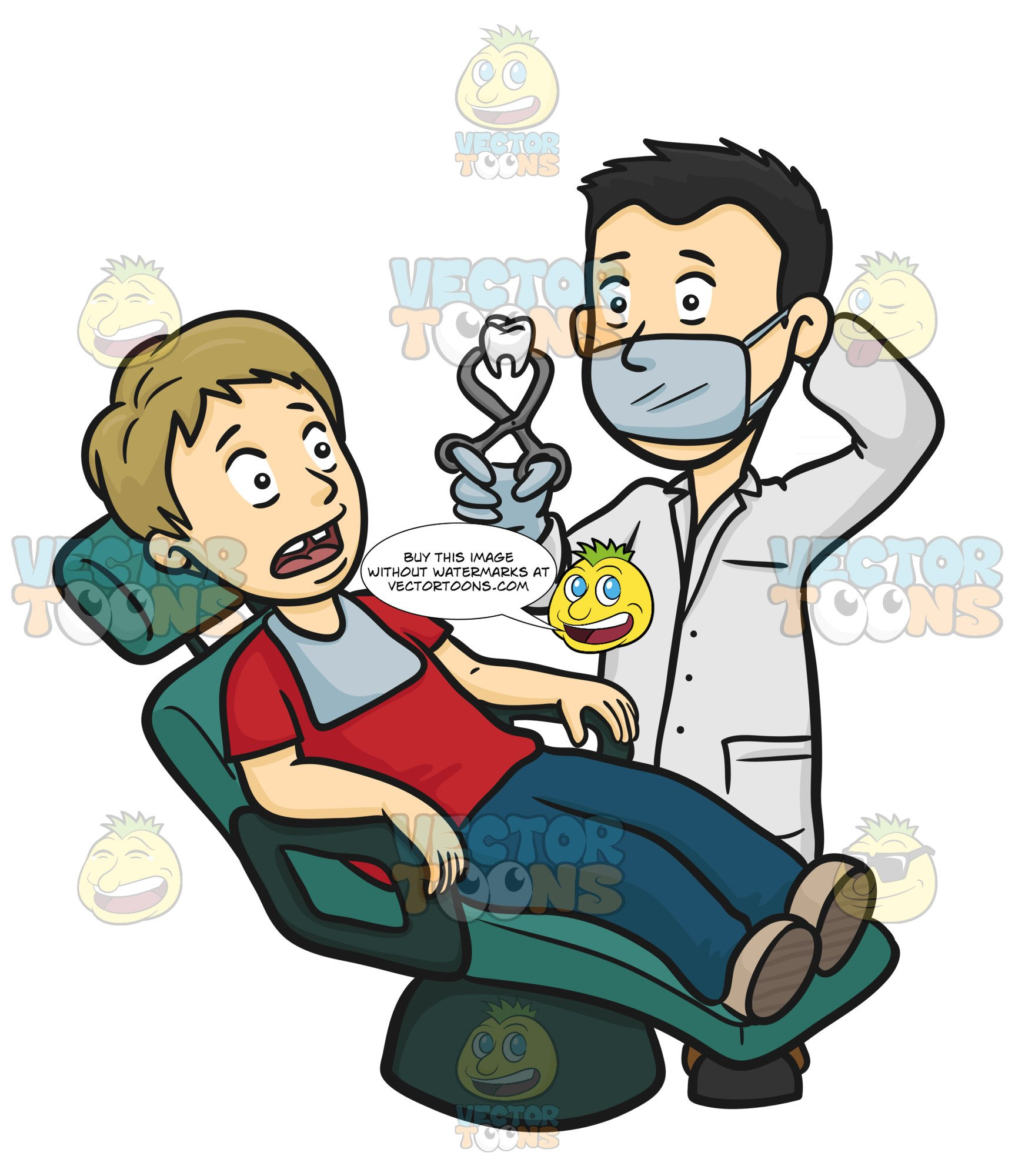 Male in white lab. Dental clipart dentist patient