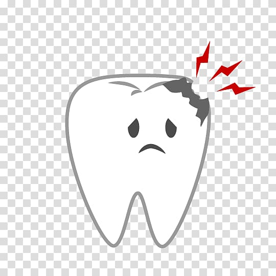 Tooth decay dental caries. Dentist clipart background