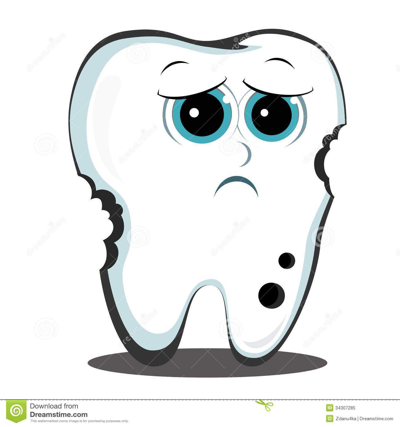 Cartoon tooth cavity stock. Dentist clipart dental caries