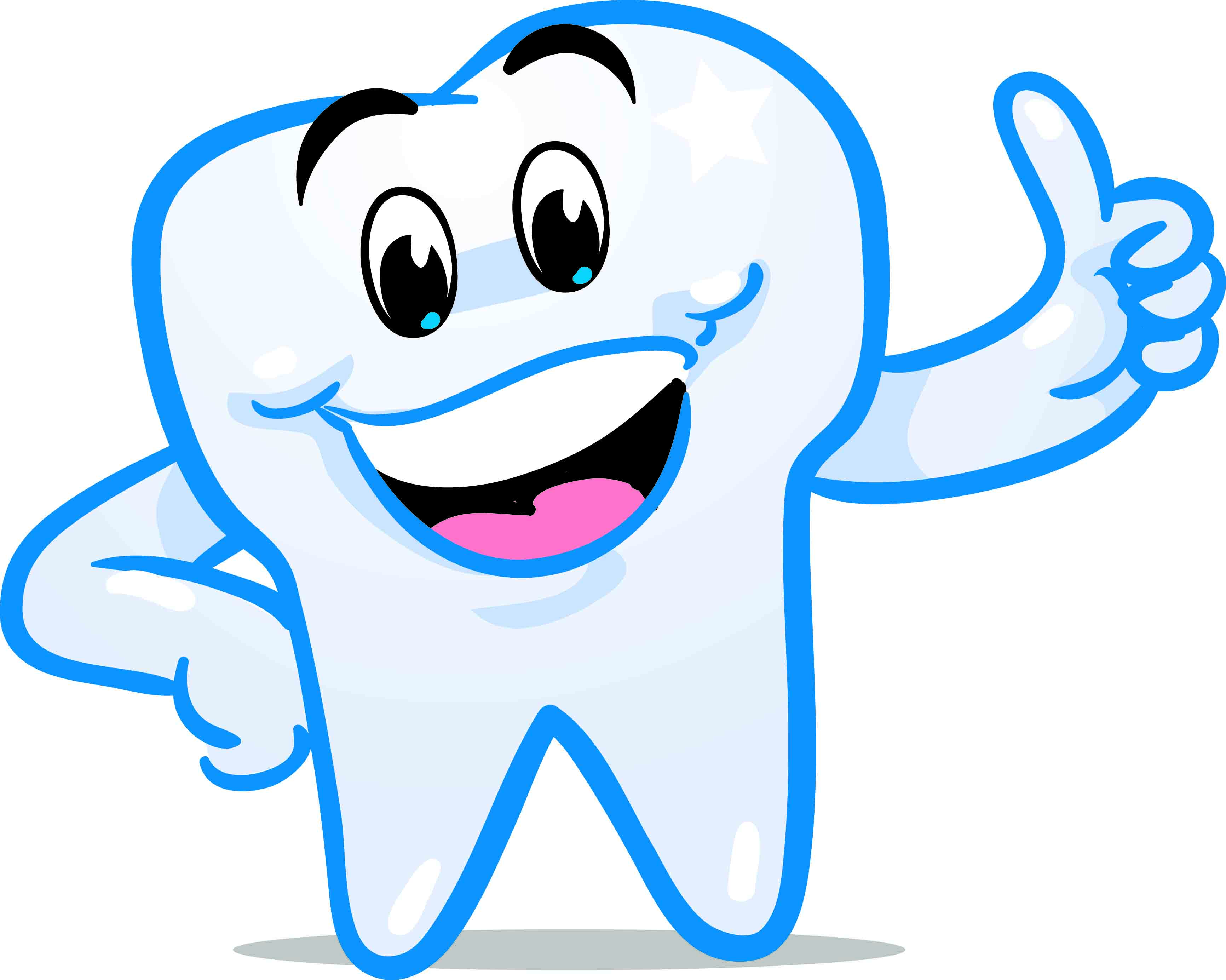 Dentist clipart. Big smile with teeth