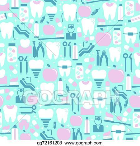 Dentist clipart background. Vector illustration dental care