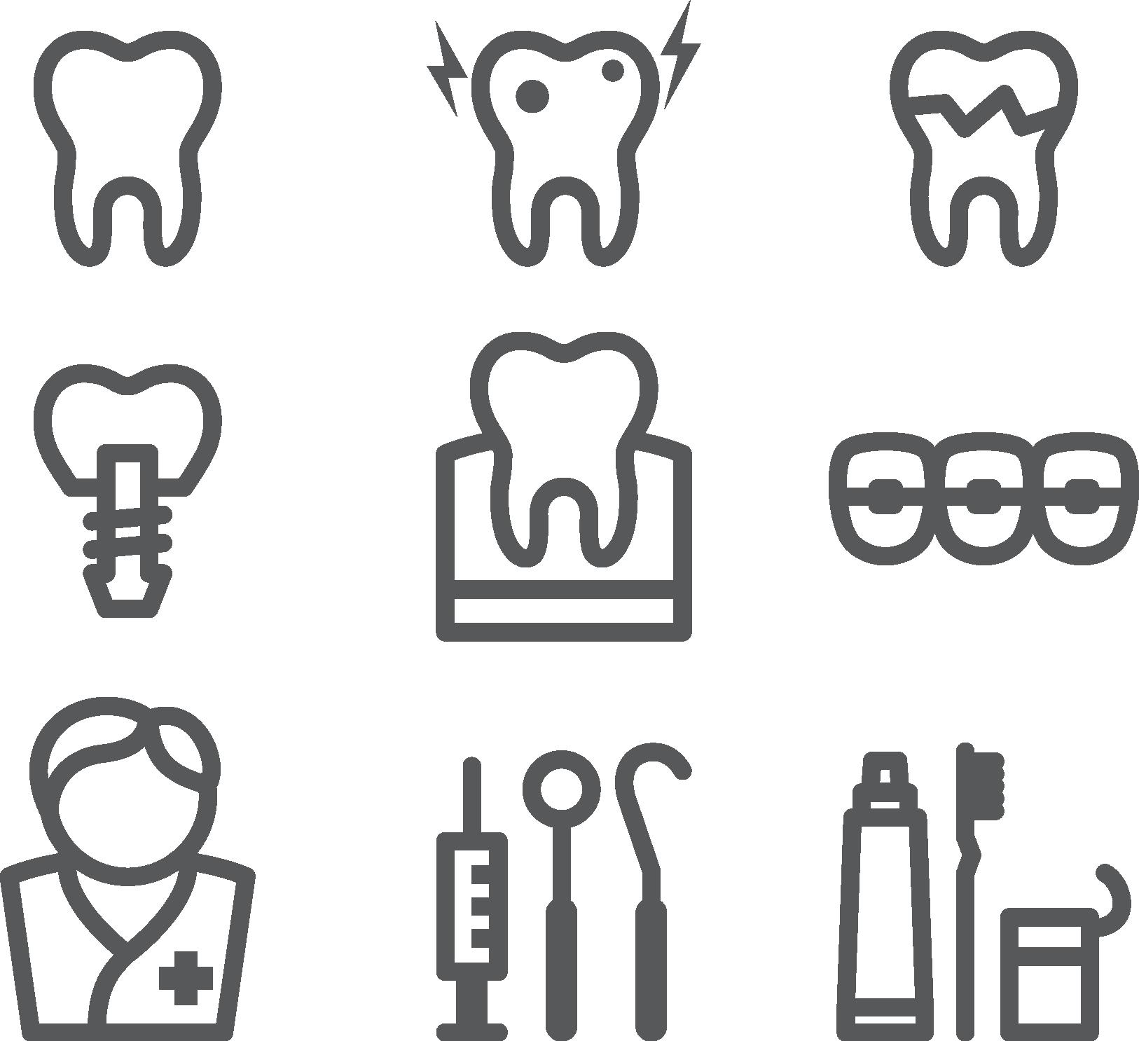 Dentist clipart border. Dentistry icon simple dental