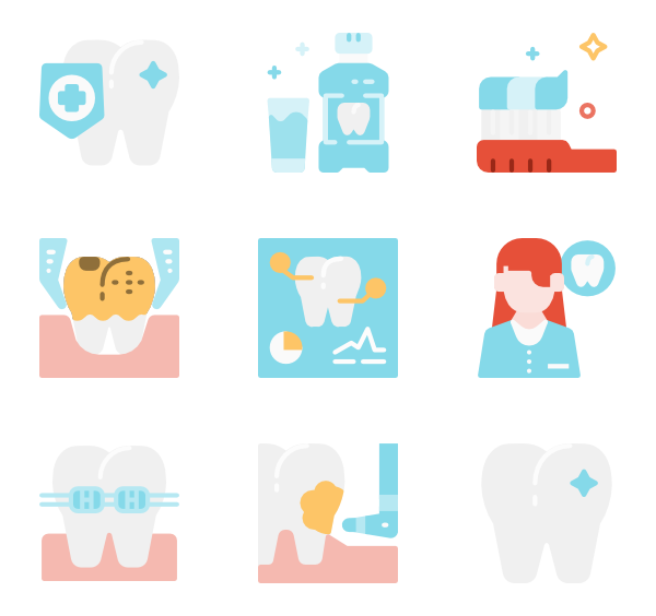 Dentist clipart dental caries. Icons free vector dentistry