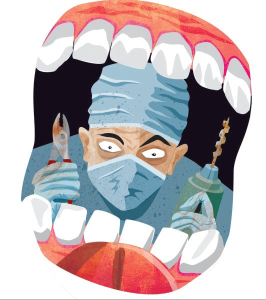 Scared of the relax. Dentist clipart dental phobia