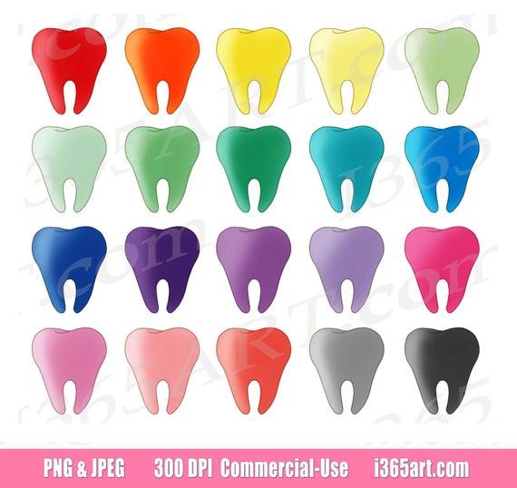 Teeth clip art dental. Tooth clipart colorful