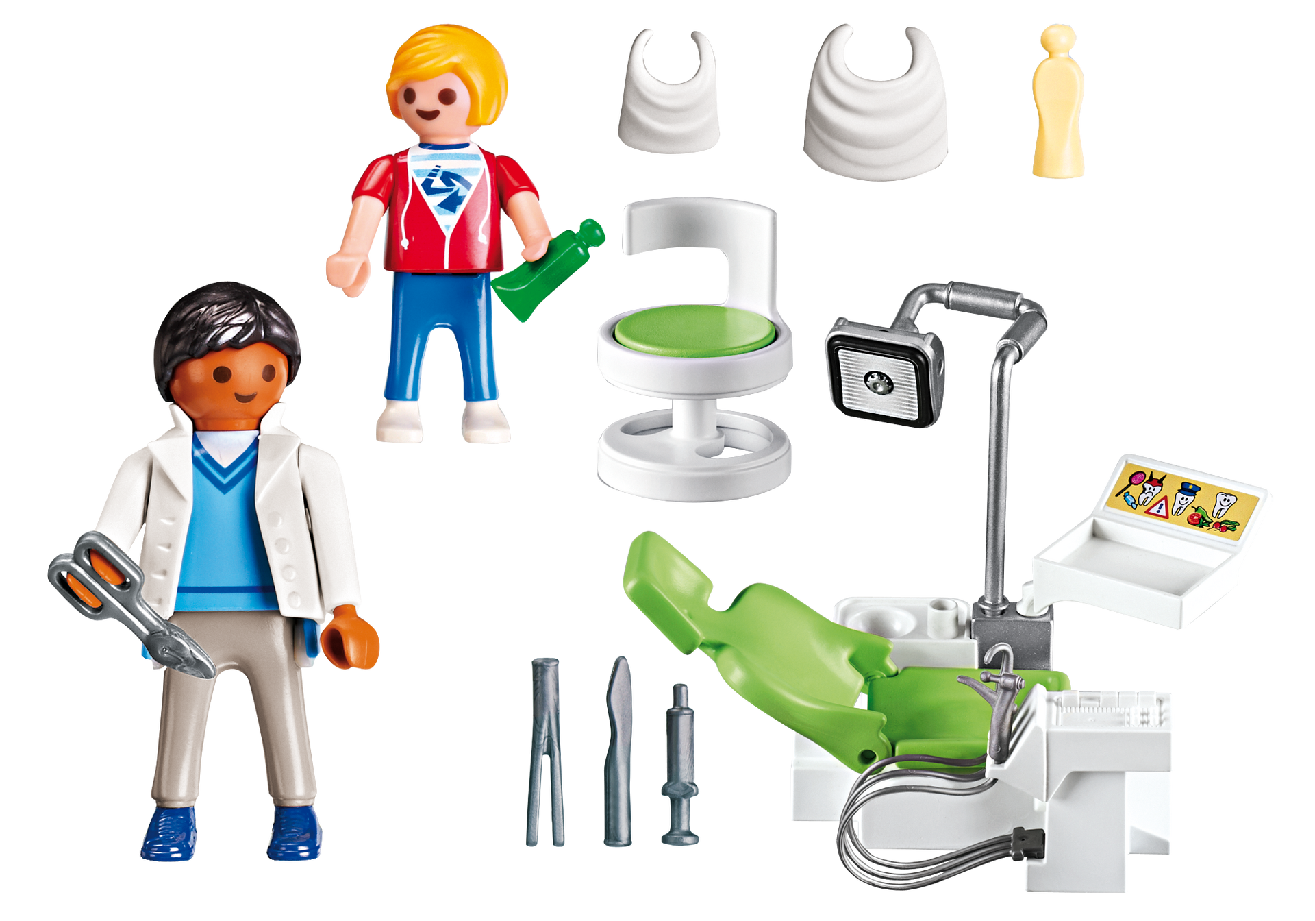 Dentist with playmobil usa. Patient clipart patient examination