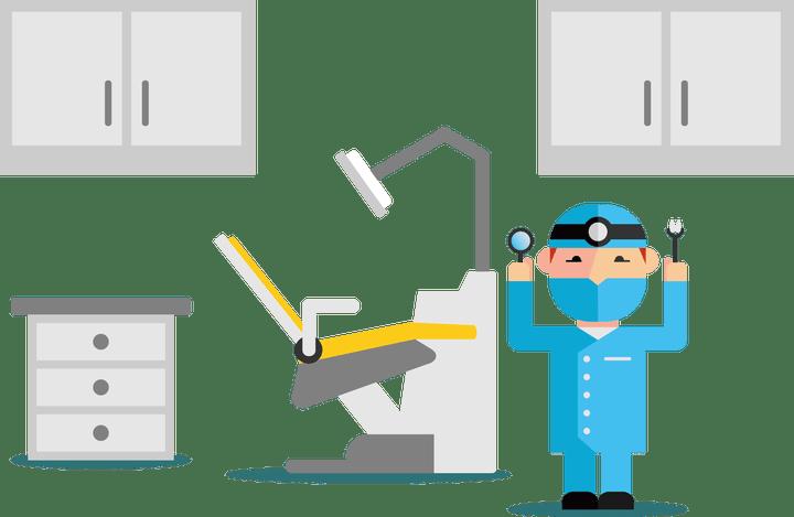 Dental clinic cartoon pictures. Dentist clipart equipment
