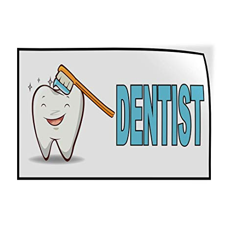 Dentist clipart health product. Amazon com decal sticker