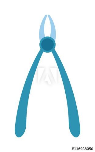 Dental forceps instruments for. Dentist clipart instrument