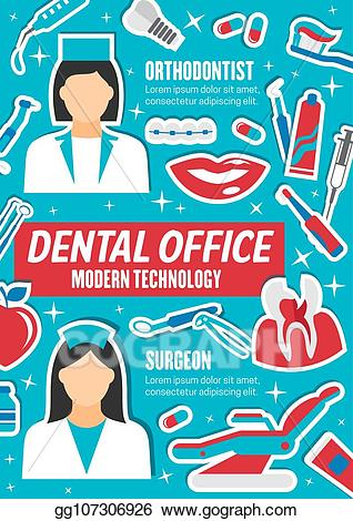 Vector stock dentists and. Dentist clipart orthodontist