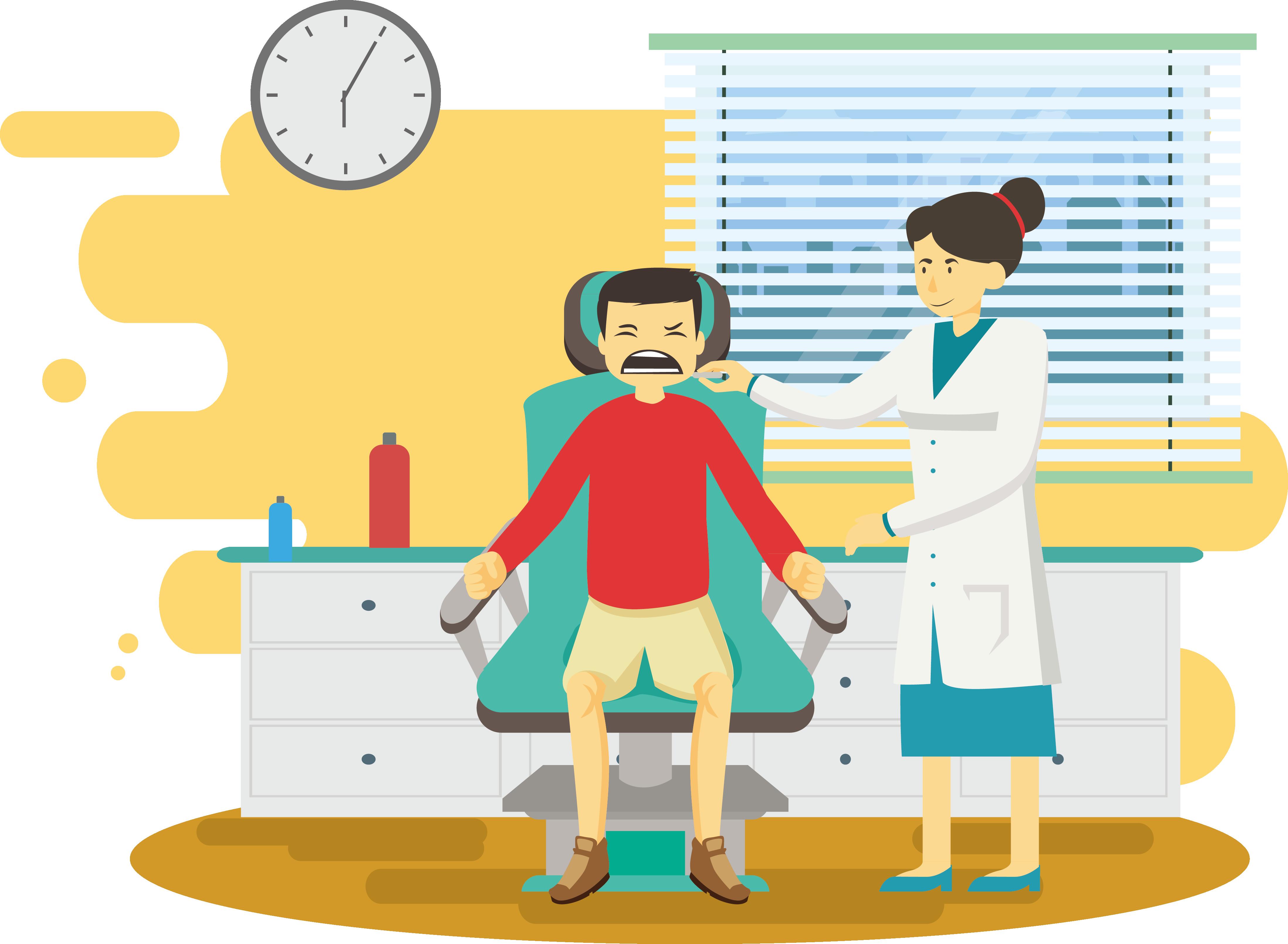 Doctors clipart dentist. Physician illustration room hygiene