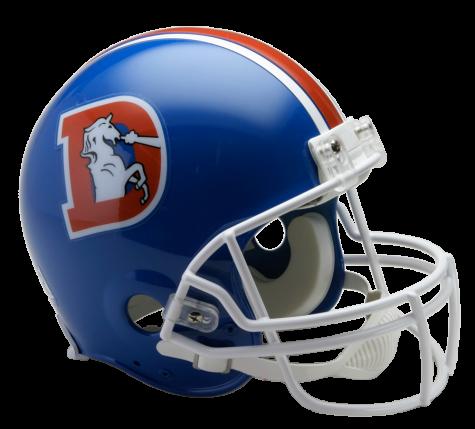 Denver broncos helmet png. Vsr authentic throwback