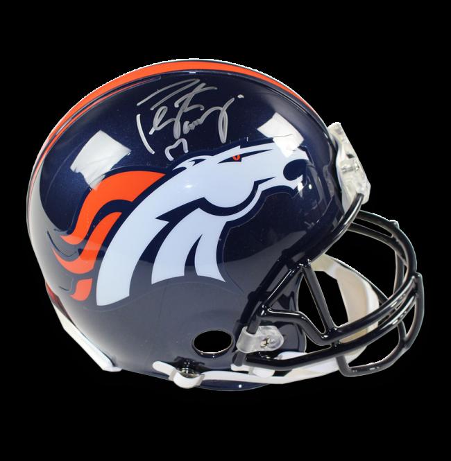 Peyton manning signed full. Denver broncos helmet png