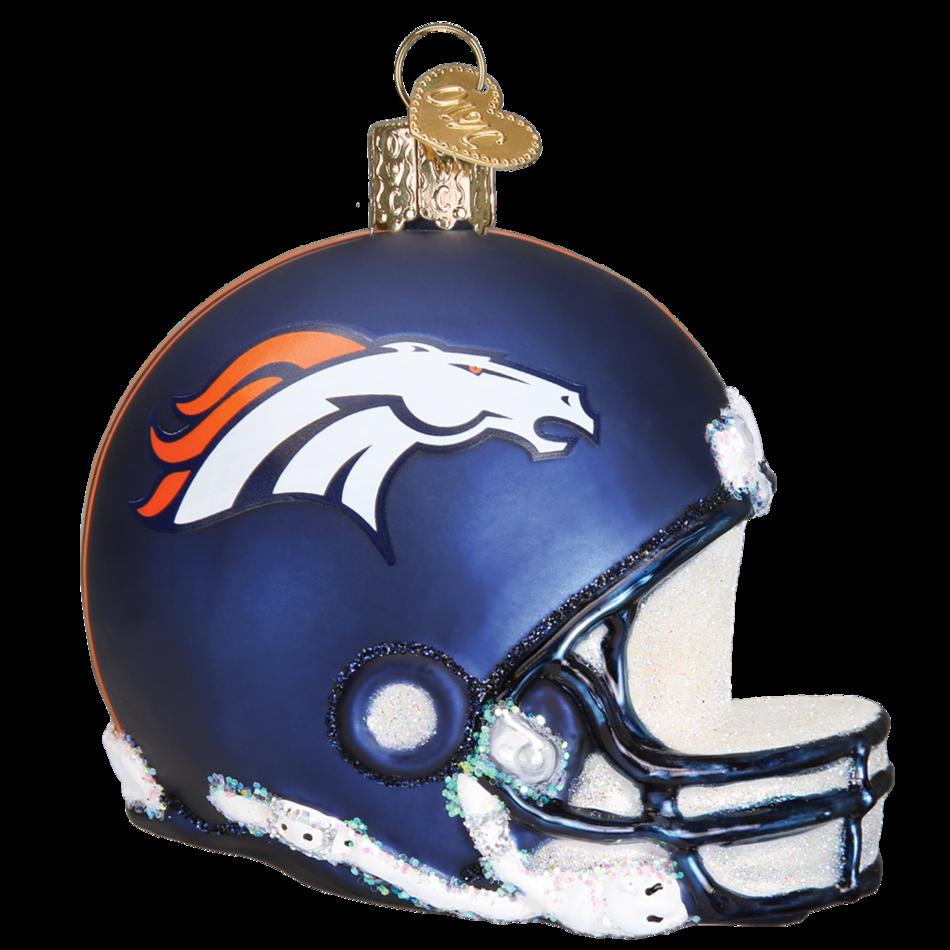 Old world christmas ornament. Denver broncos helmet png