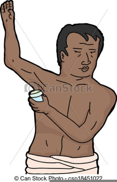 Deodorant clipart. Putting on free images