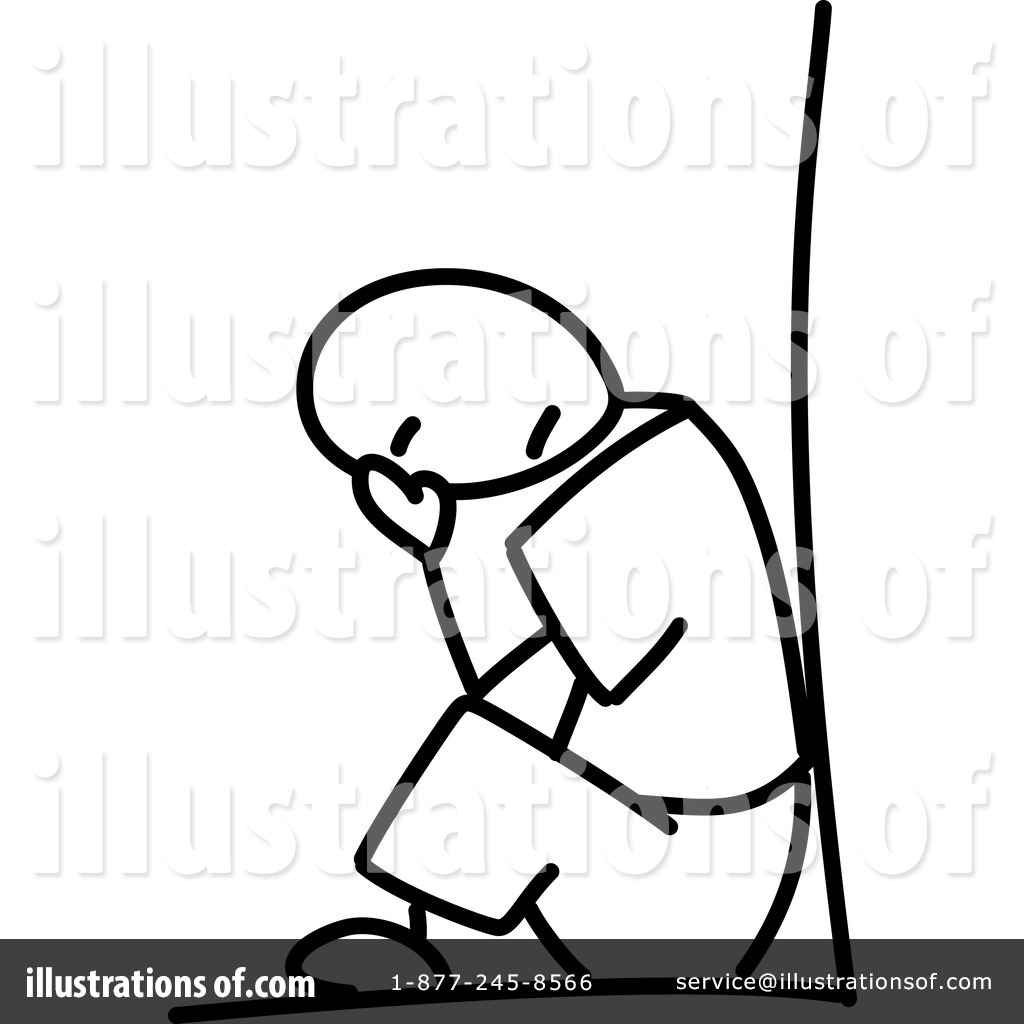 Illustration by frog royaltyfree. Depression clipart