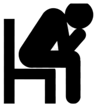 Transparent png azpng . Depression clipart black and white