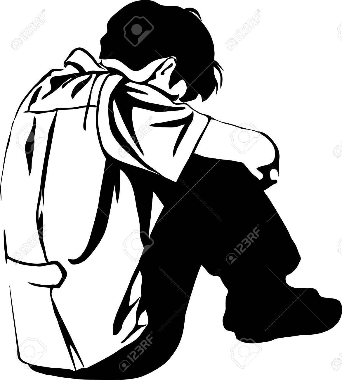 Portal . Depression clipart black and white