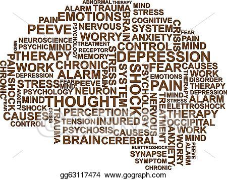 Depression clipart brain. Eps illustration vector