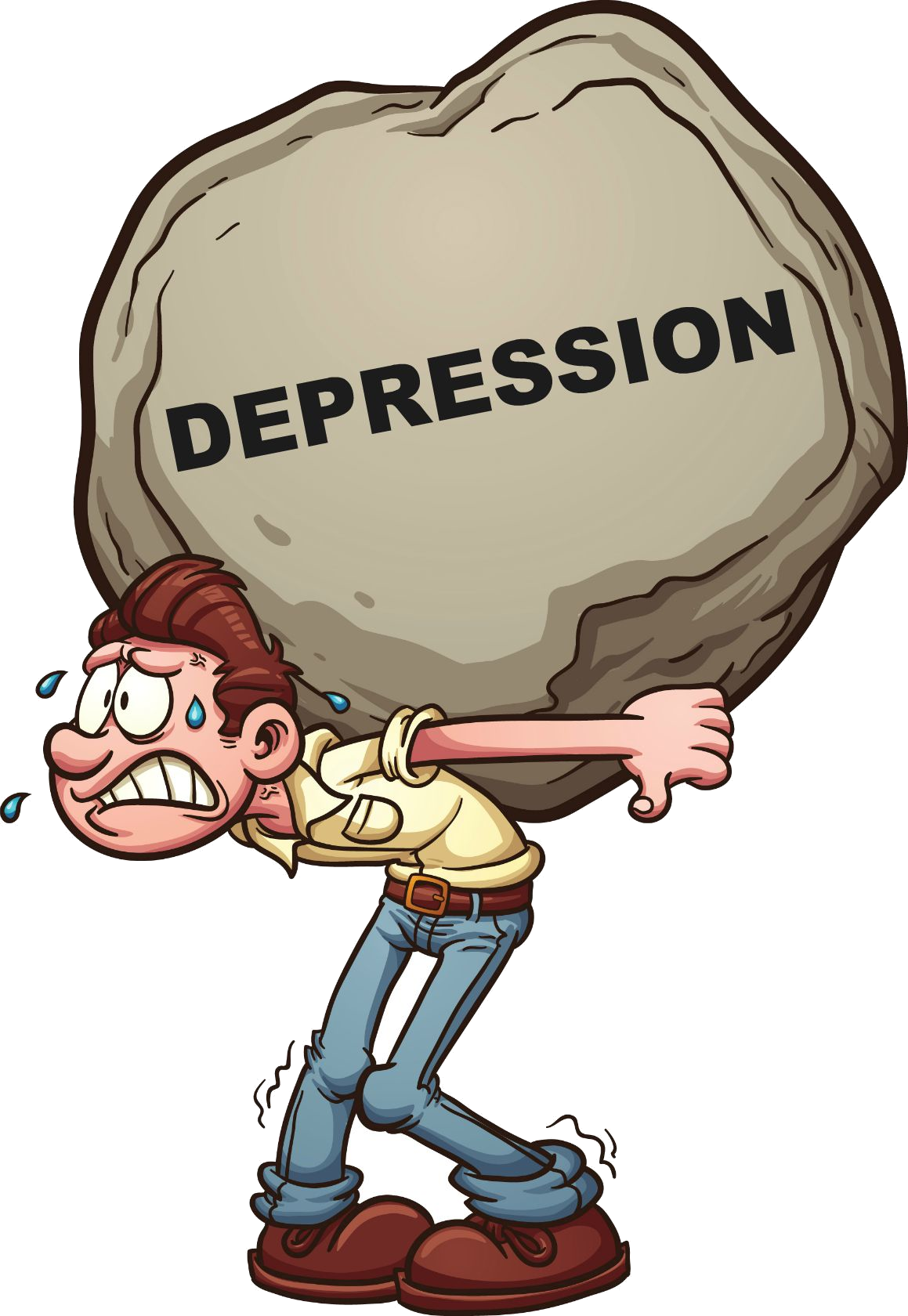 Depression Clipart Cartoon Depression Cartoon Transparent Free For Download On Webstockreview 2021