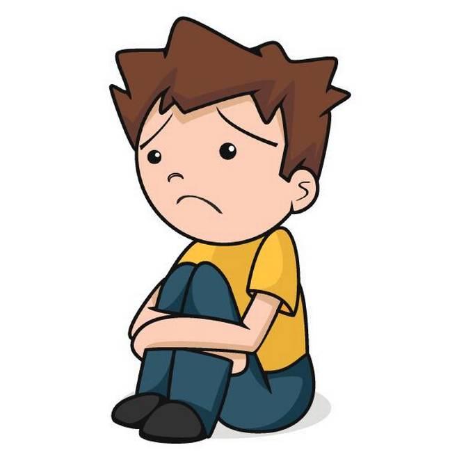 Clinical even hits children. Depression clipart child depression