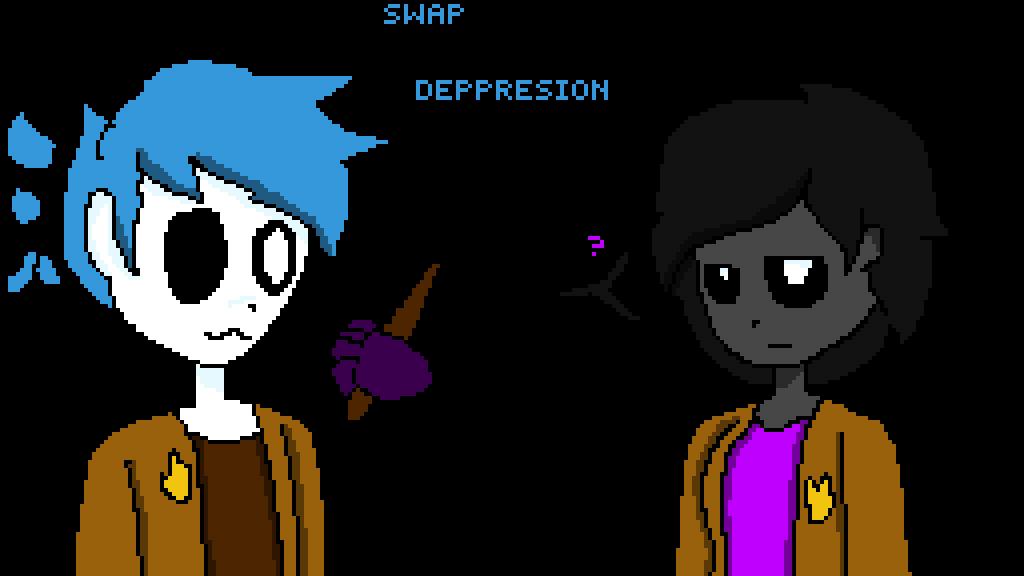 Pixilart swap crippling wizards. Depression clipart childhood depression
