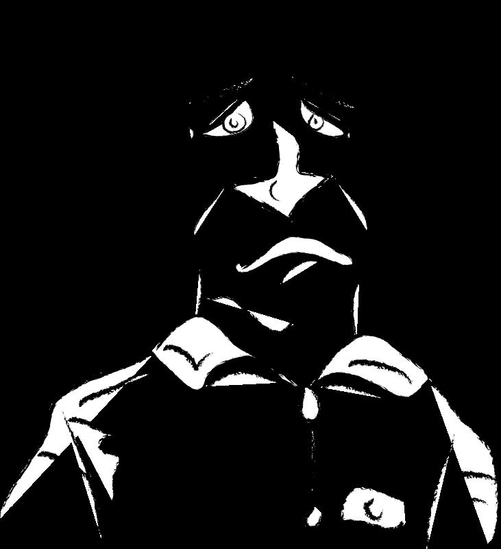Sad man drawing at. Depression clipart depressed person