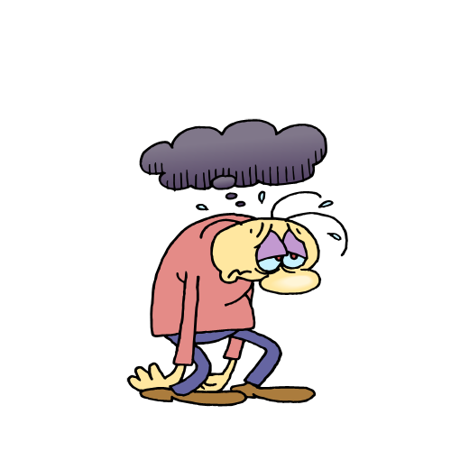 Depression clipart depressed person. Free cliparts friends download