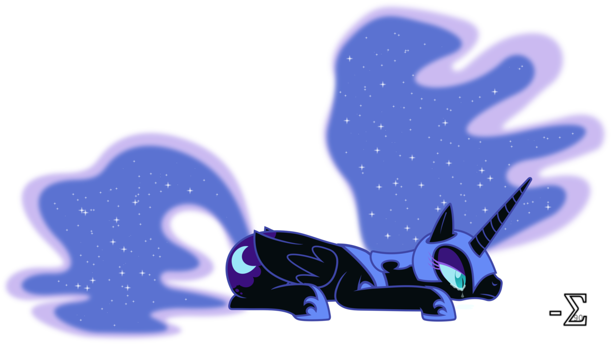Upset nightmare moon by. Depression clipart disappointed