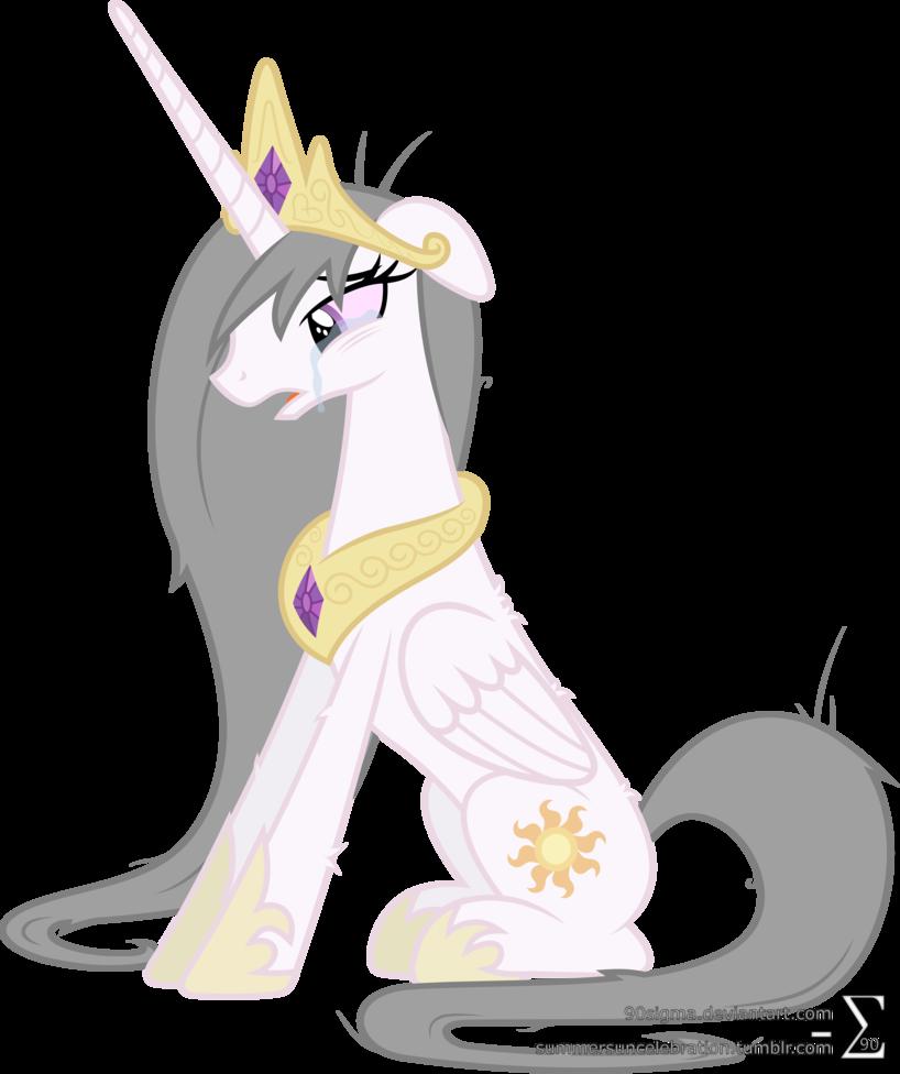 Princess celestia by sigma. Worry clipart distraught