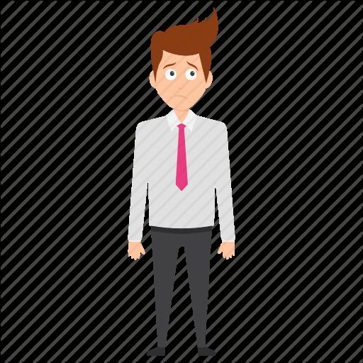 businessman face expressions. Depression clipart frustration