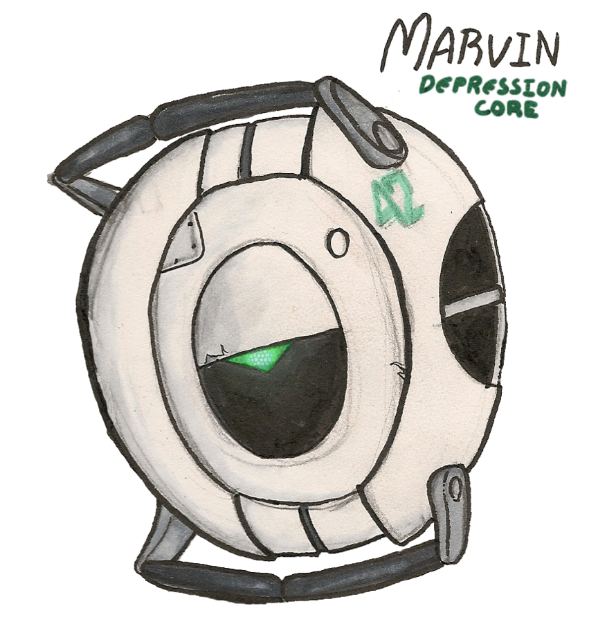 Depression clipart gloomy. Marvin the core by