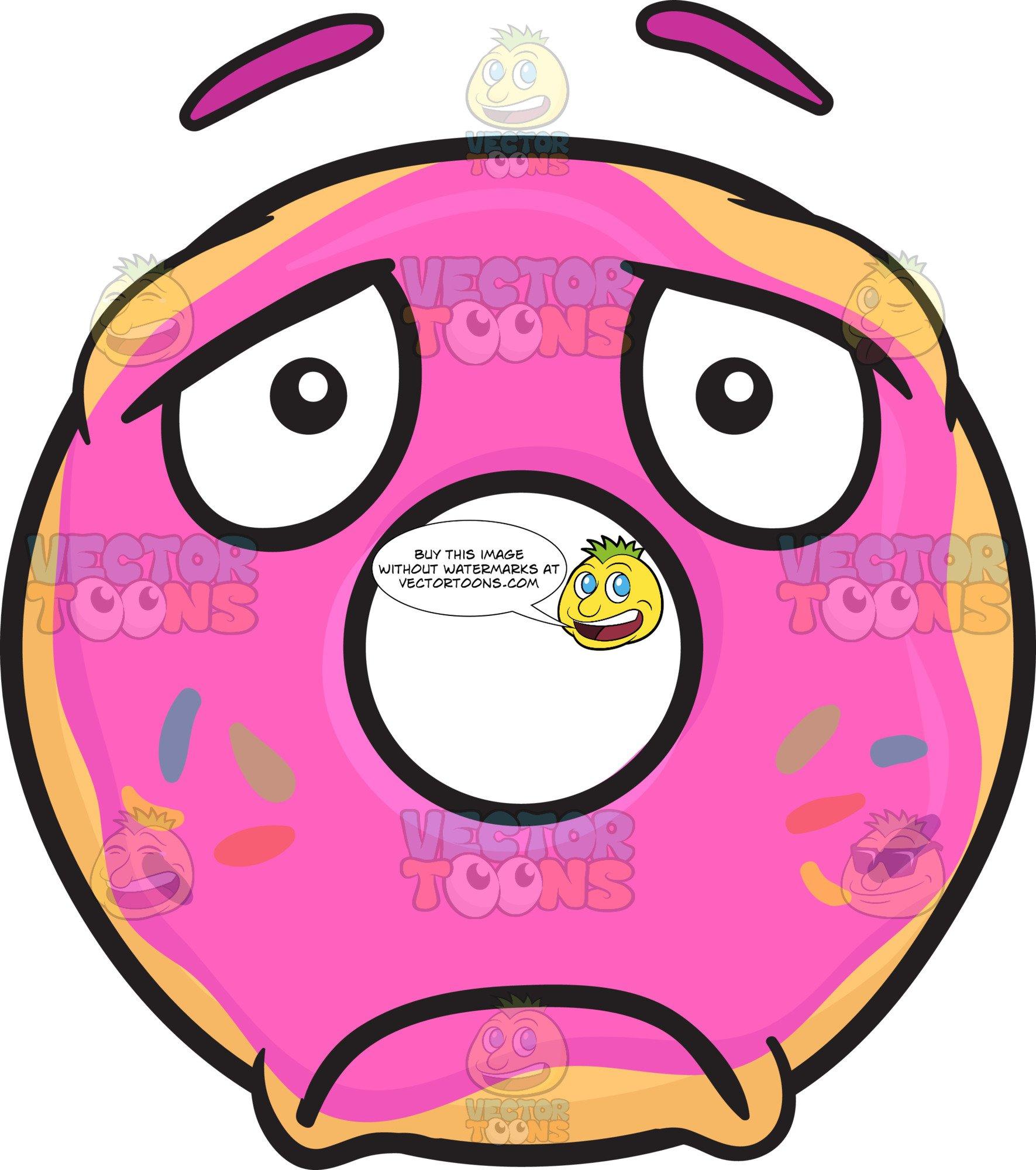Depression clipart gloomy. Sad donut looking depressed