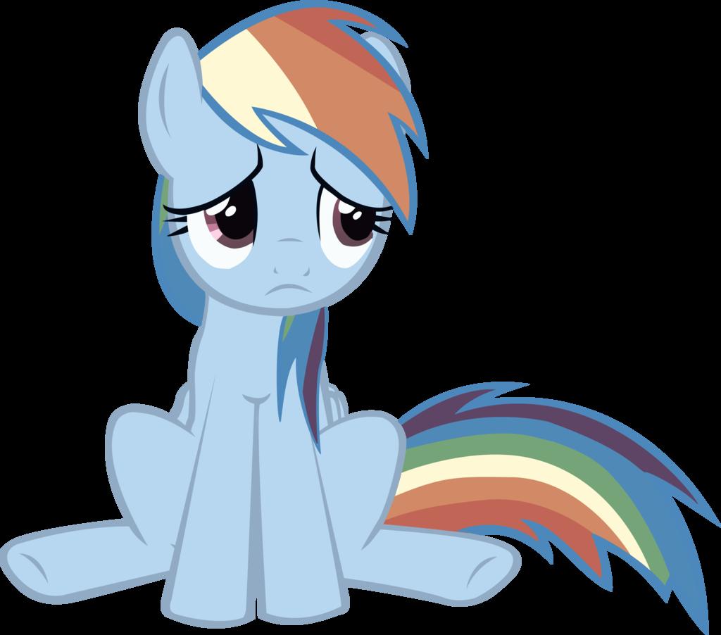 Rainbow dash sad by. Depression clipart melancholy