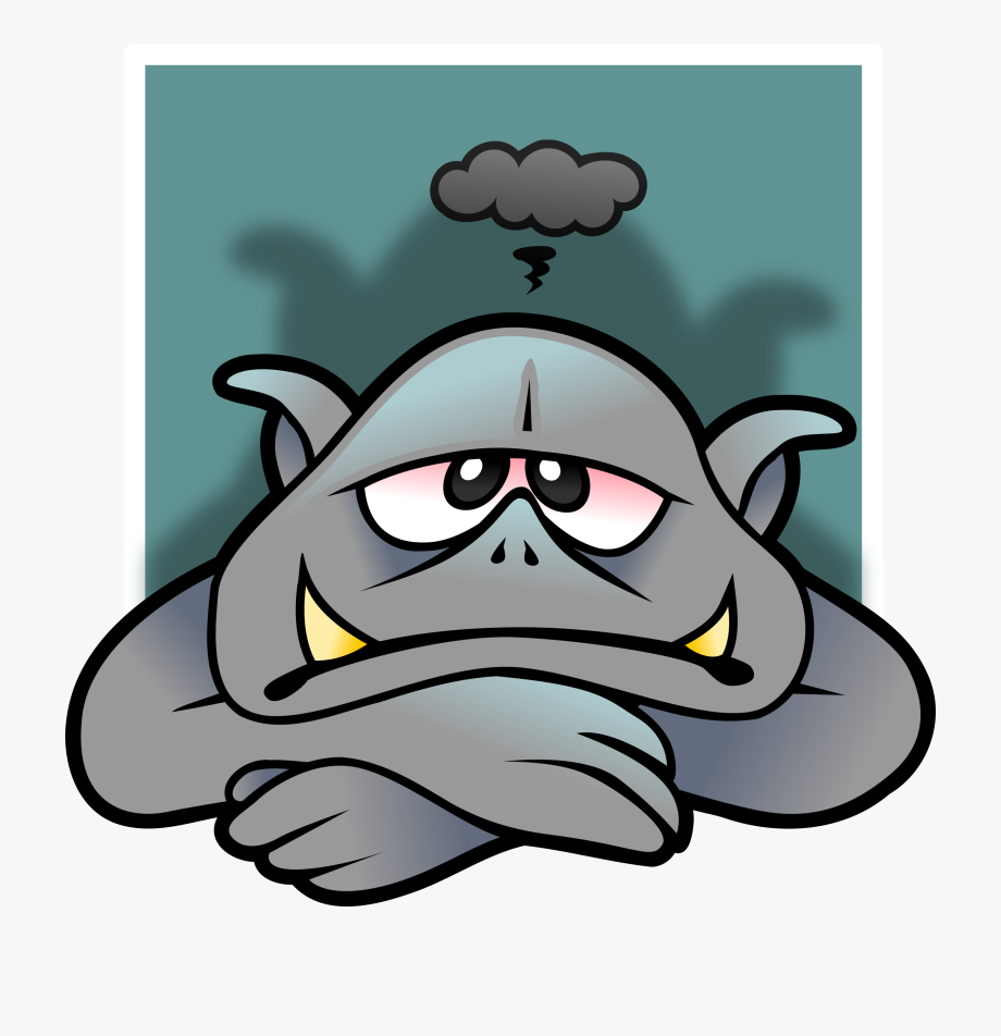Depression clipart moody. Troll avatar cliparts cartoons