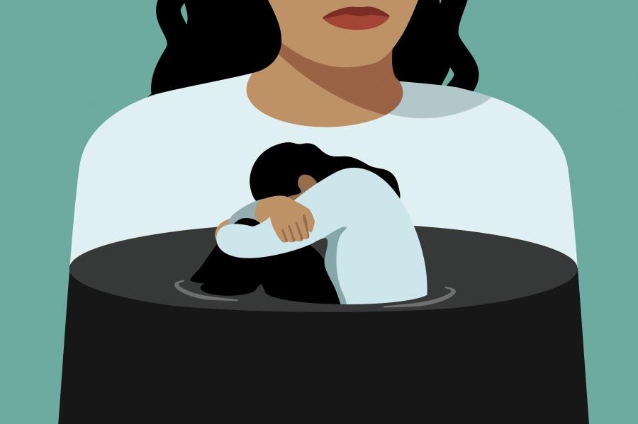 Don t let sad. Depression clipart morbid