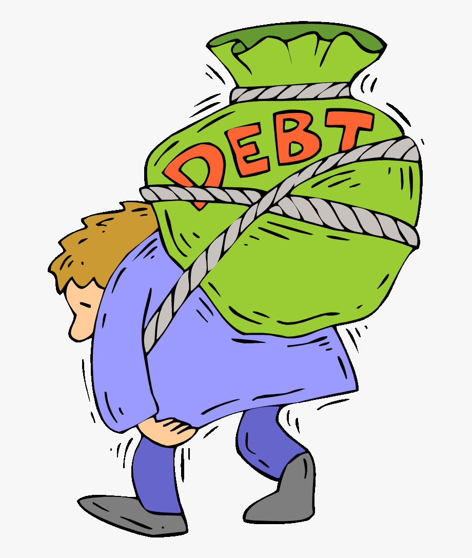 Debt free . Depression clipart parent