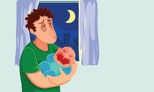 Depression clipart parent. Postpartum in new dads