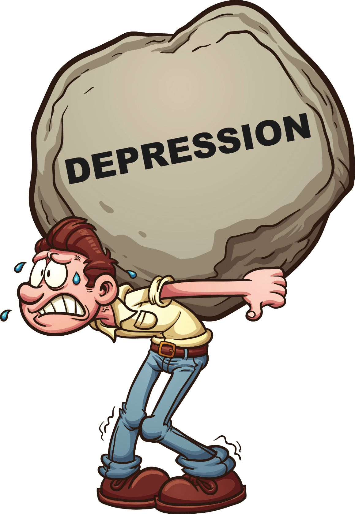 Causes of clip art. Depression clipart physical